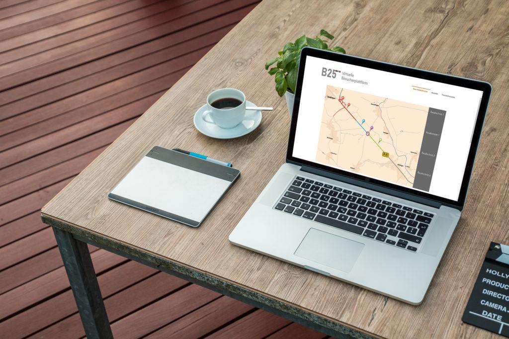 Start der Virtuellen Besucherplattform