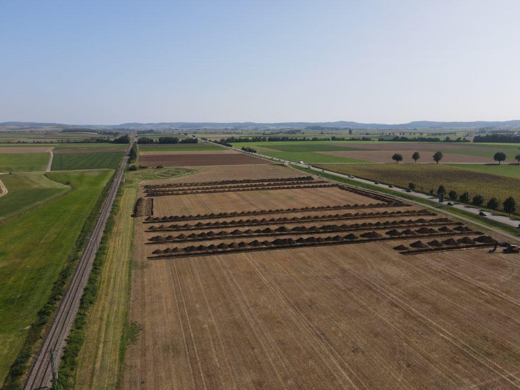 Archäologische Grabungen im Bauabschnitt 1